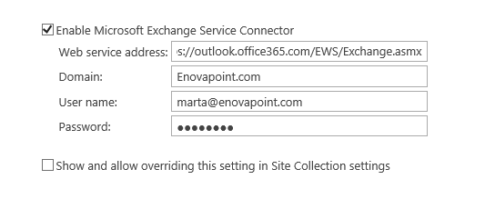 Sending to Office 365 groups (EWS configuration