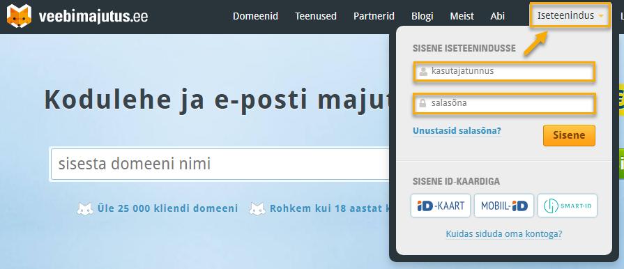 Domeeni (veebiaadressi) sidumine e-poega veebimajutus.ee