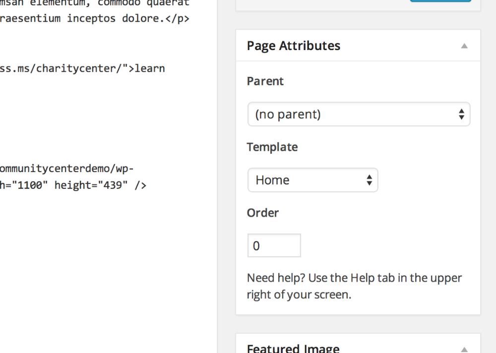 Gateway: Creating the Homepage - WordPress Theme Documentation for ...