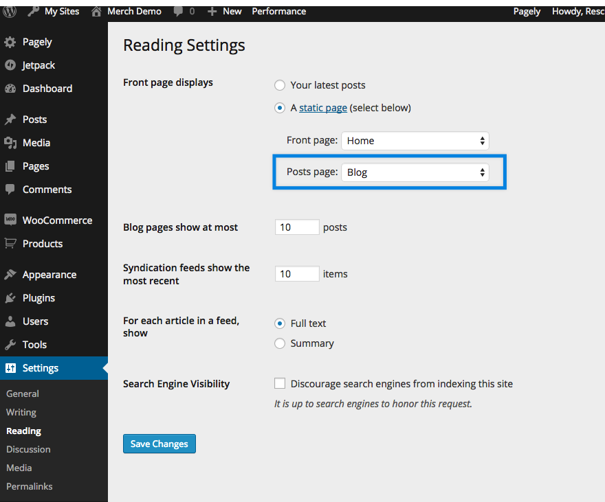 Gateway: Creating the Blog Page - WordPress Theme Documentation for ...