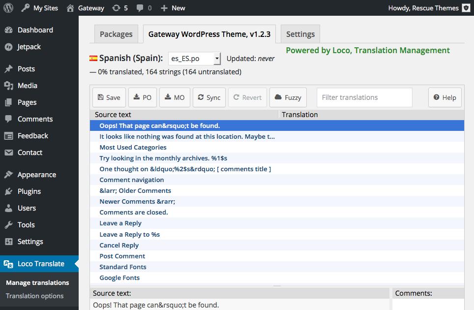 How do I translate the theme into my language? - WordPress Theme ...