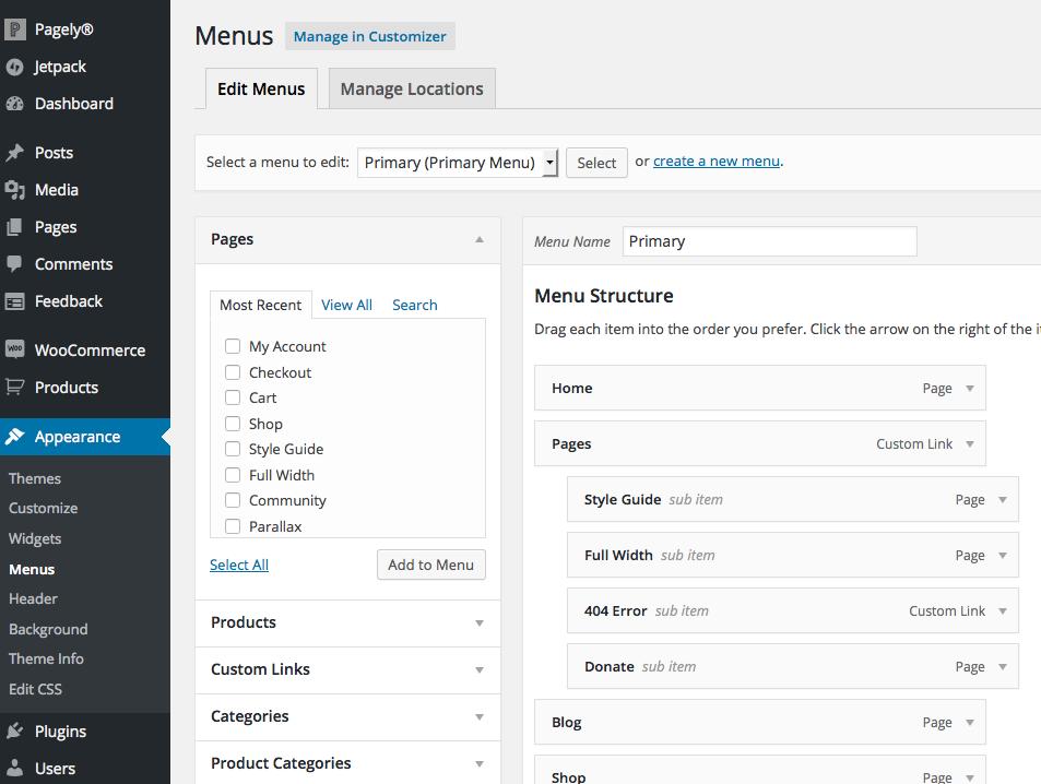 Politics: Creating the Header and Social Icon Menus - WordPress ...