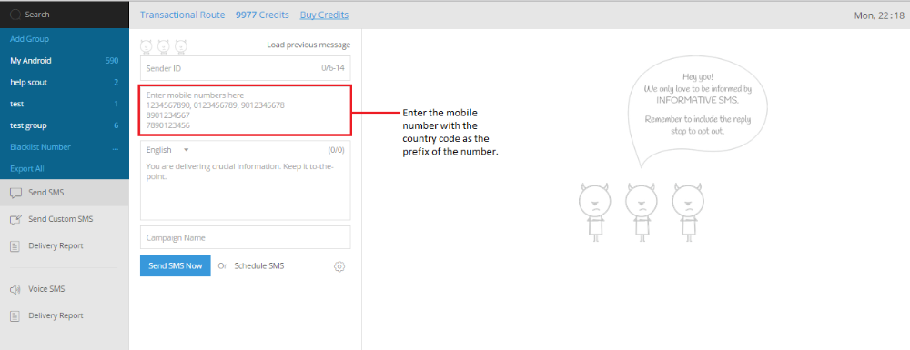 How to send SMS worldwide? - MSG91 FAQs
