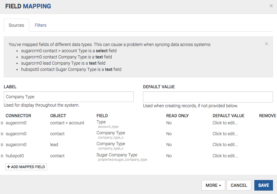 Conditional Mapping Using A Field On Another Object Bedrock Help Docs - Data mapping companies
