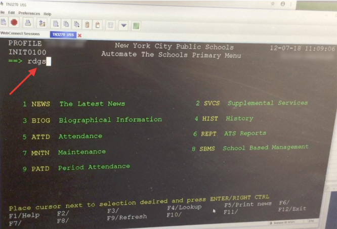How to get student data from the ATS System (NYC Public and