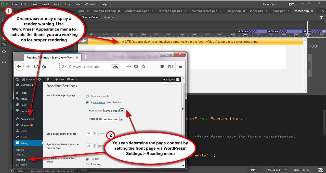 Using Dreamweaver Support - ServerPress Knowledge Base