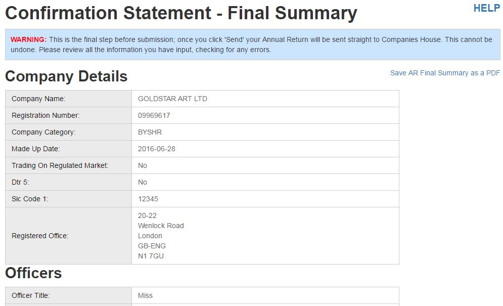 how to complete your confirmation statement diy