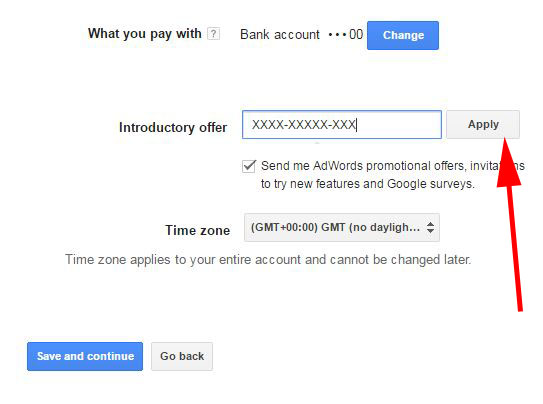 How to redeem your Google Adwords voucher - Company Formation MadeSimple