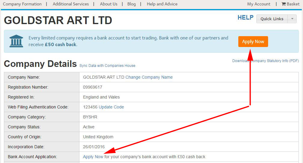Apply for a Barclays business bank account - Company Formation ...