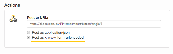 How to Connect Blitzen and Decision io with a Webhook
