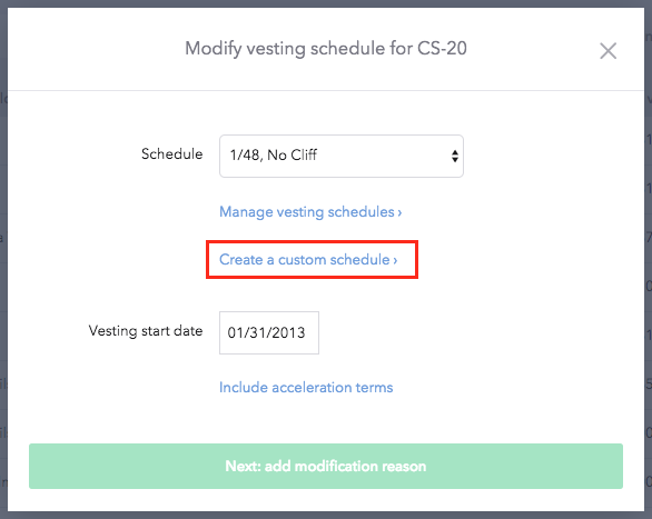 Create a custom vesting schedule carta help center for Vesting schedule template