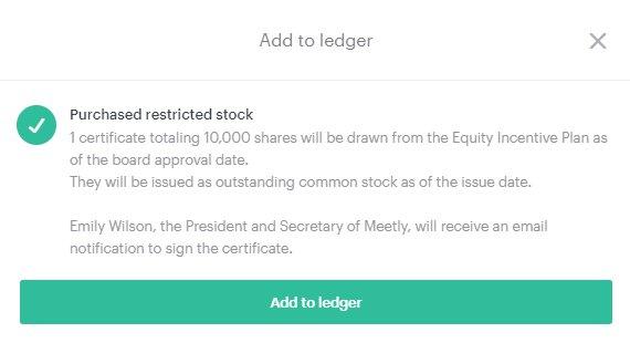 Issue Restricted Stock Awards Rsas Carta Help Center