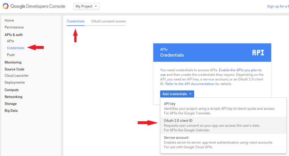 Social Login - How to create Google API Client ID and Client