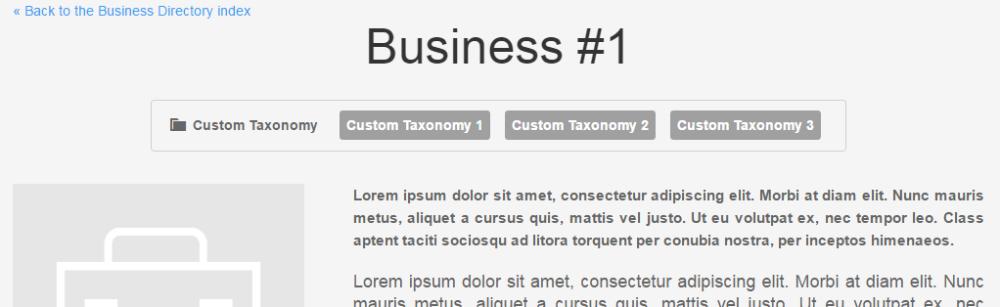 CM Business Directory (CMBD) - Custom Taxonomy