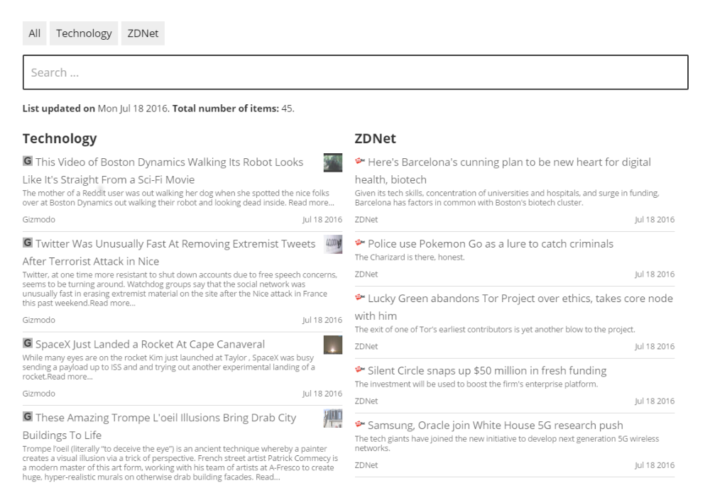 CM Curated RSS Aggregator (CMCRA) - How To - Show a Feed List (Using