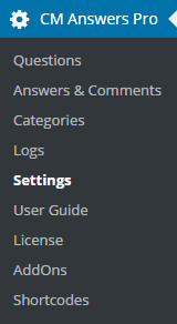 CM Answers (CMA) - Settings - Deleting Questions