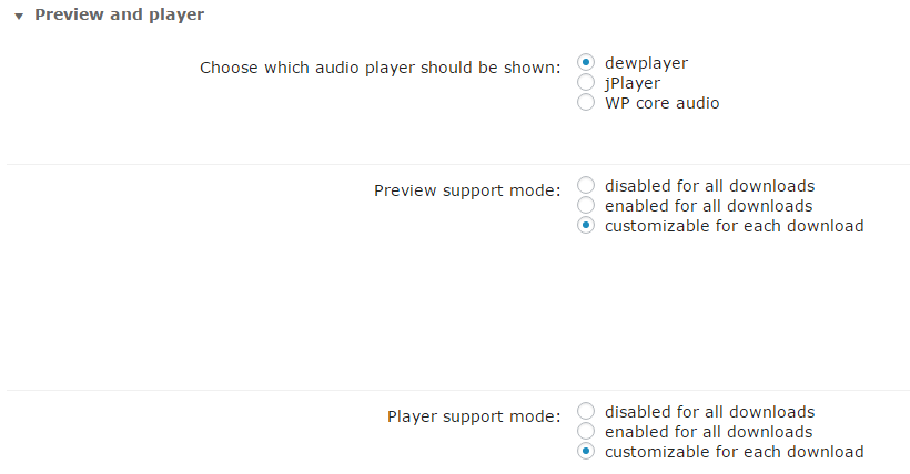 Author Enabled Preview And Player Modes
