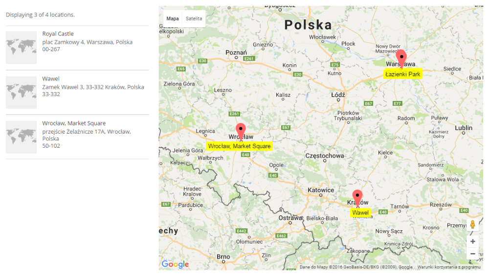 Map 3 Locations.Cm Map Locations Cmml Using Shortcodes Creativeminds Products