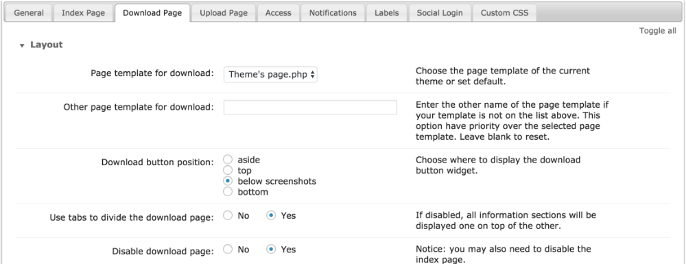 CM Download (CMDM) - Theme - Download Page Customization ...