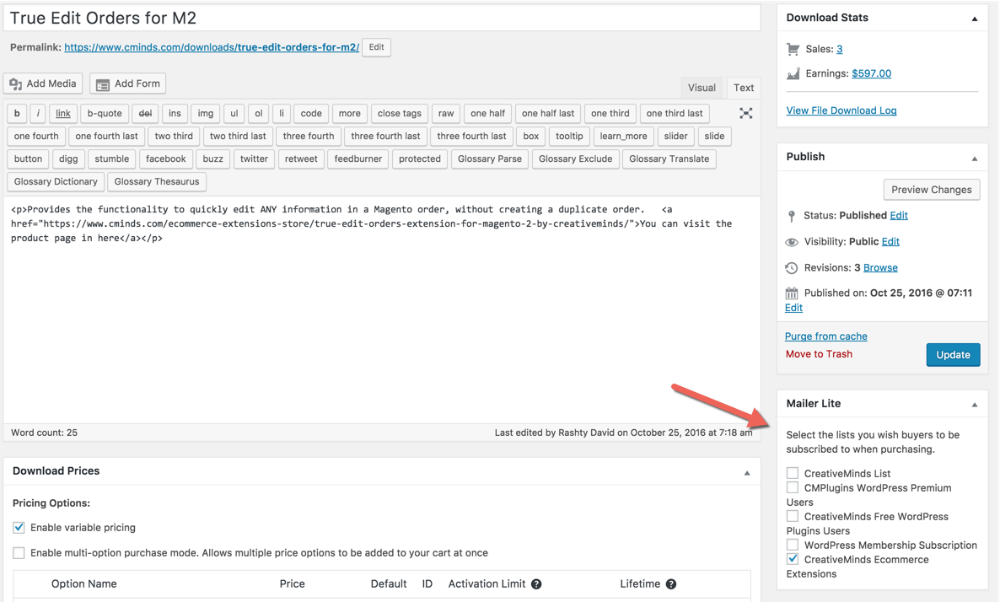 MailerLite Email Marketing for Easy Digital Downloads