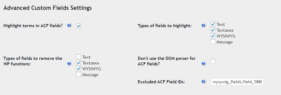 CM Tooltip (CMTG) - Extras - Advanced Custom Fields (ACF) Support
