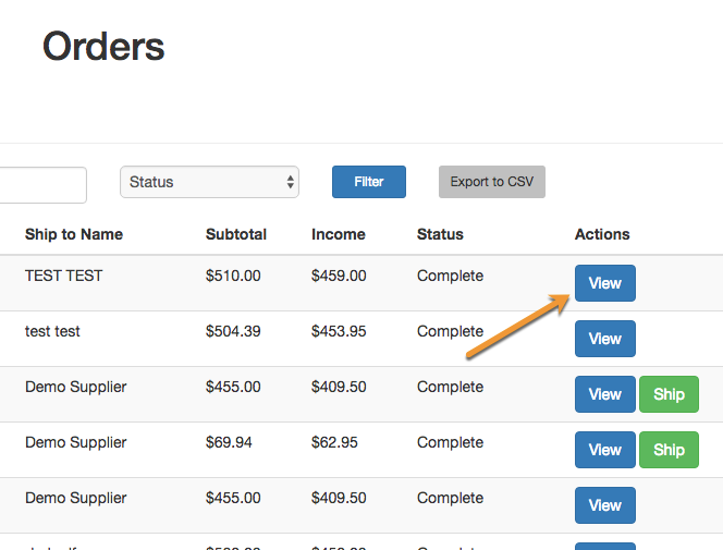 Multi-Vendor Marketplace - Supplier - Order List