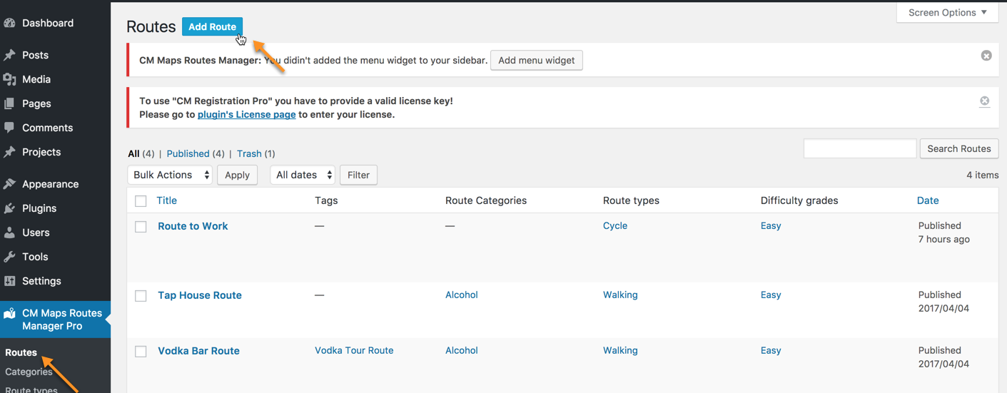 CM Maps Route Manager (CMMRM) - Importing and Finding KML