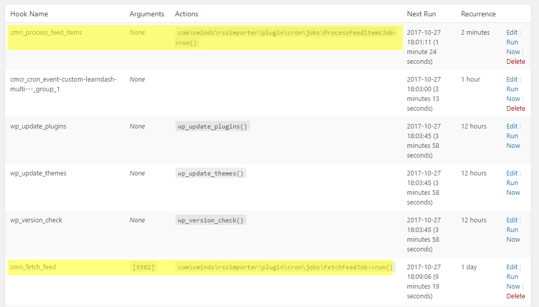 RSS Post Importer / RSS Aggregator - CRON Troubleshooting
