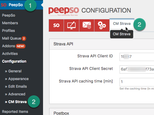 Strava Integration - PeeSo - PeepSo Settings - CreativeMinds