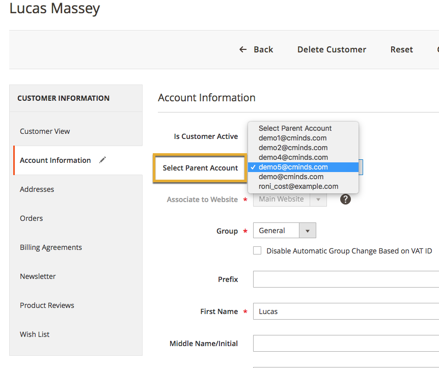 Multi User Magento 2 - Adding Subaccounts - CreativeMinds Products