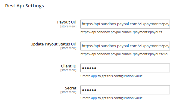 Marketplace - PayPal Integration - Configuration
