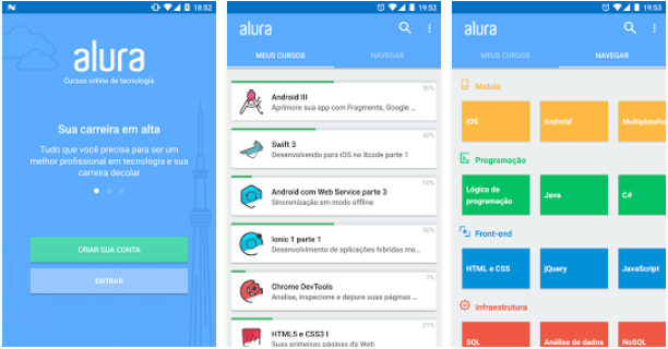 Posso acessar a Alura pelo Android e iPhone? - FAQ Alura