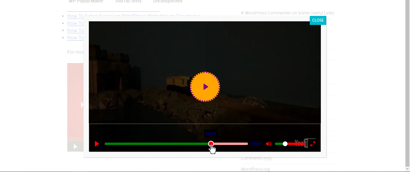 Customize The Video Popup Player - Popup Maker Documentation