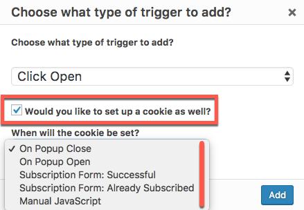 Cookies' option settings - Popup Maker Documentation