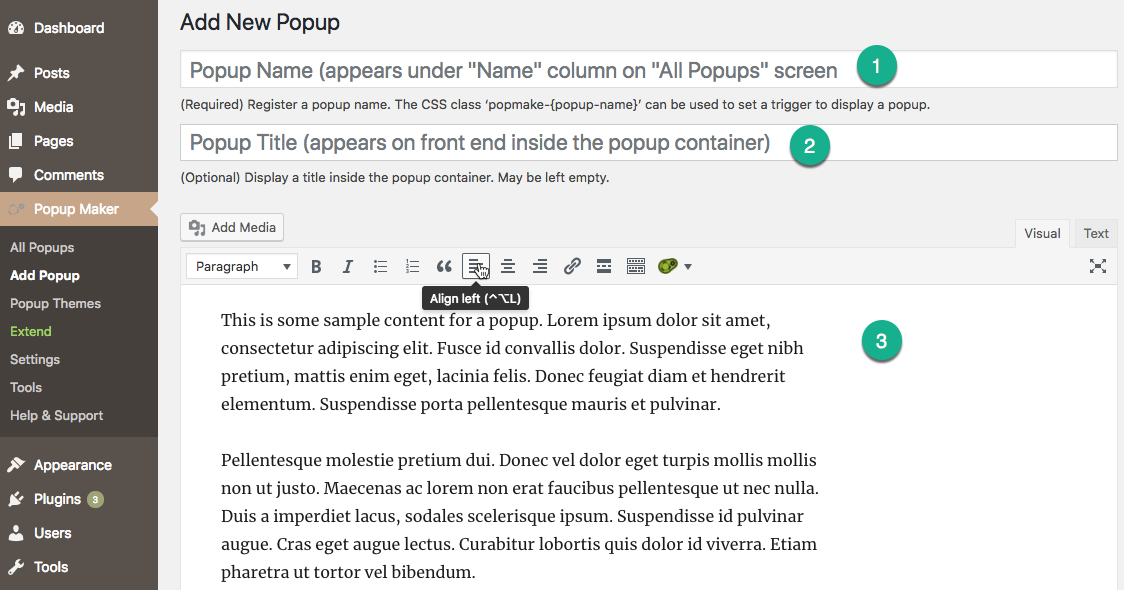 The Popup Editor -- Introduction - Popup Maker Documentation