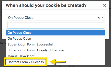 Close/Open Popup and Create Cookie After Contact Form 7 Submission