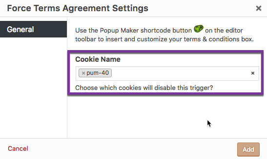 Terms and Conditions Popups: Triggers & Cookies - Popup