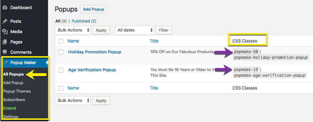 Find the Popup ID - Popup Maker Documentation
