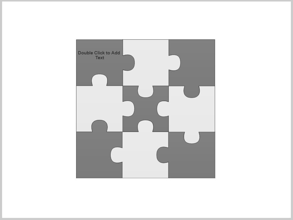 Puzzle Piece Diagram Smartdraw Software Knowledge Base