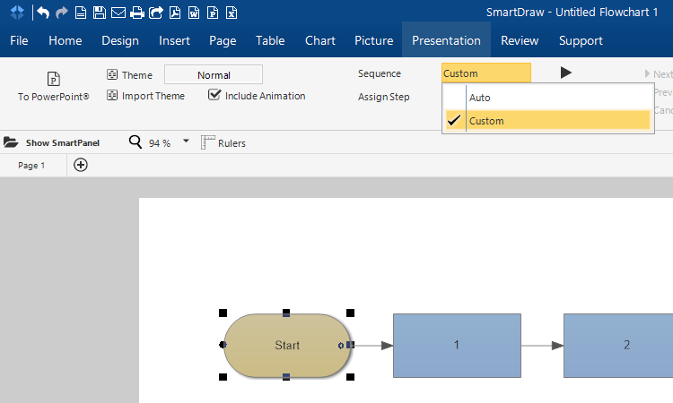 Sequencing In Smartdraw For Windows Smartdraw Software Knowledge Base