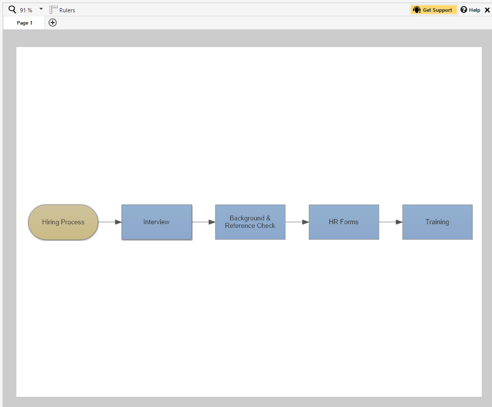 Insert A Sub Process Linked Flowchart Smartdraw Software