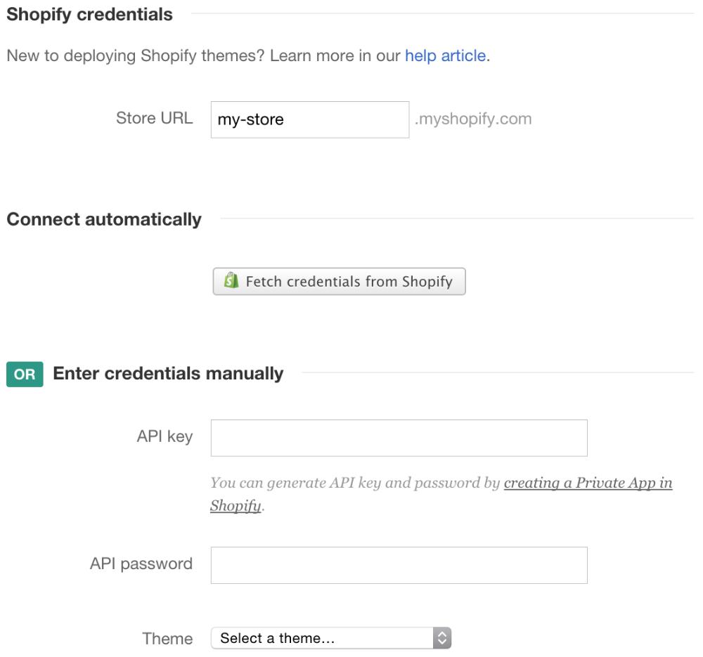 Shopify - DeployBot Help