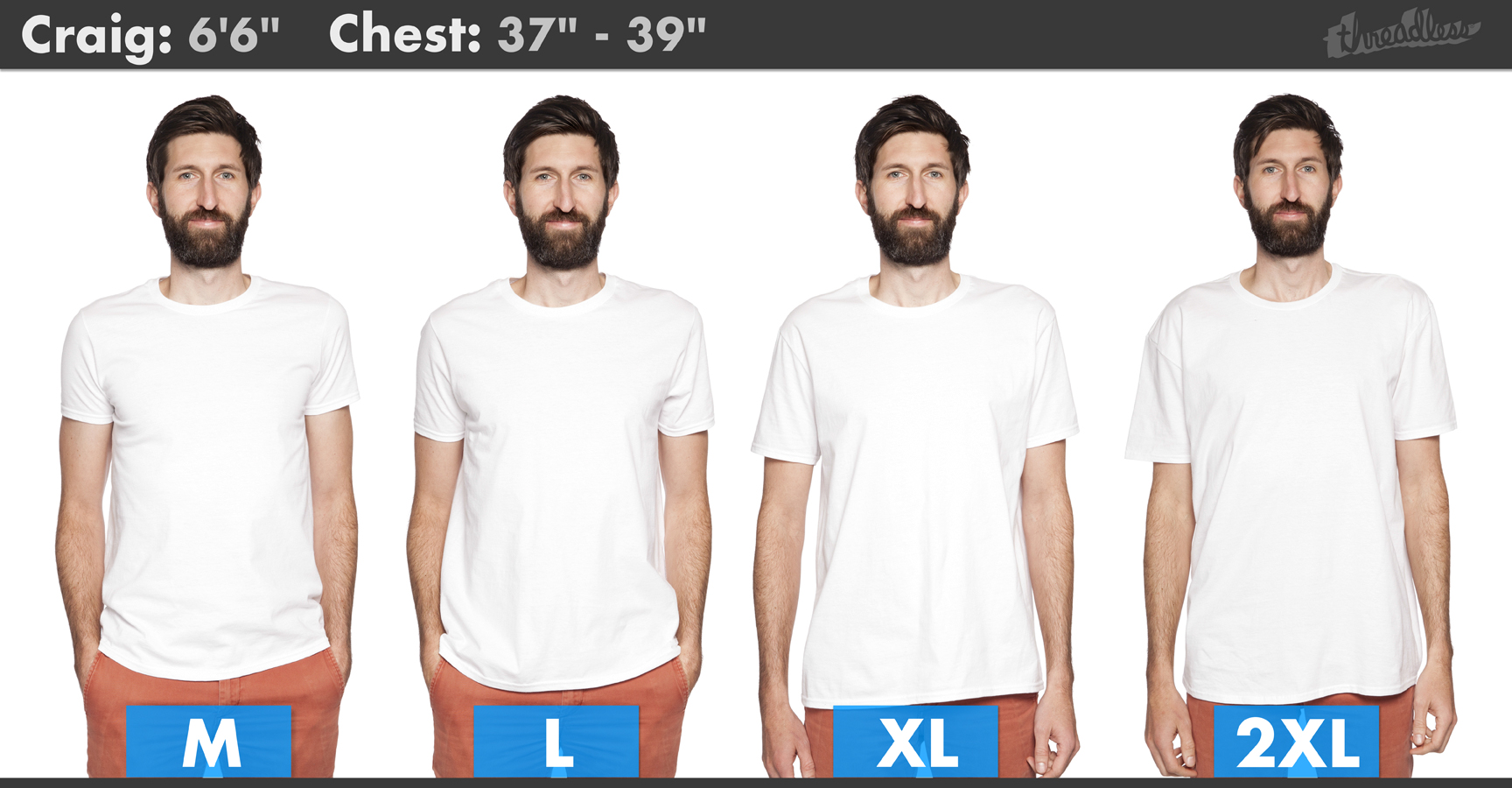 5f168bae94a Fit Guide - Threadless Common Qs
