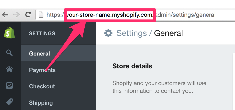 How can I find my Shopify Storefront Address? - Craftybase Knowledge