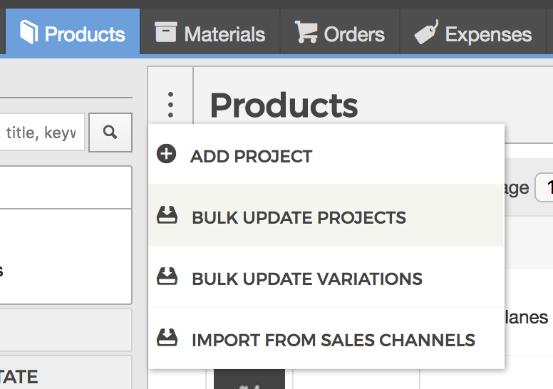how can i update my products in bulk craftybase knowledge base