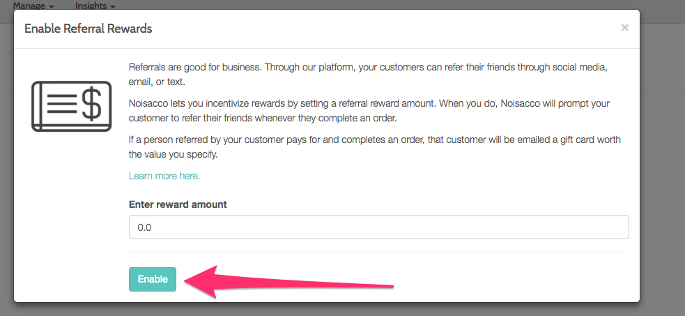 Automated Referral Rewards - Occasion Knowledge Base