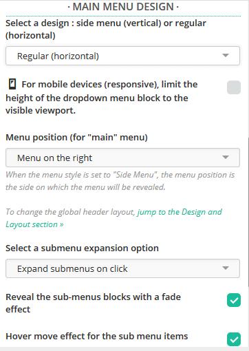 Managing the header menus in the Customizr theme - Press