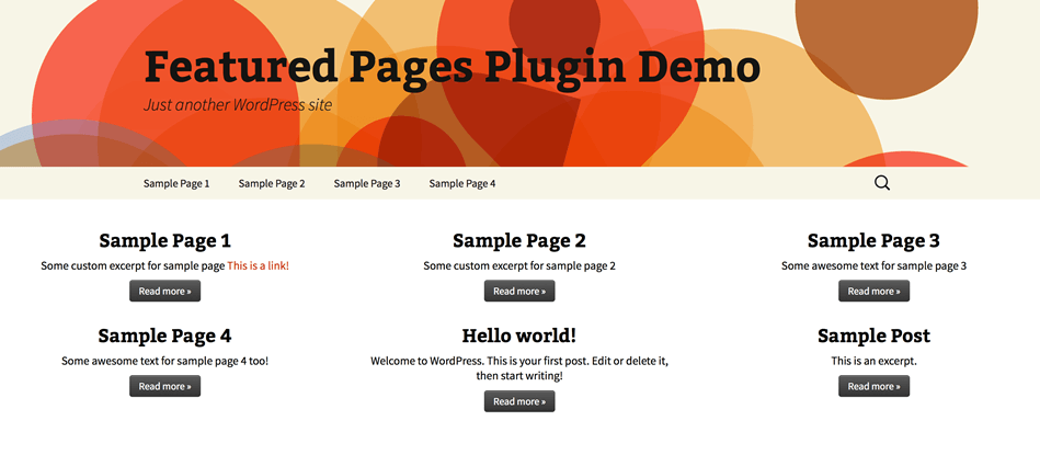 Featured Pages Unlimited for WordPress - Documentation - Press