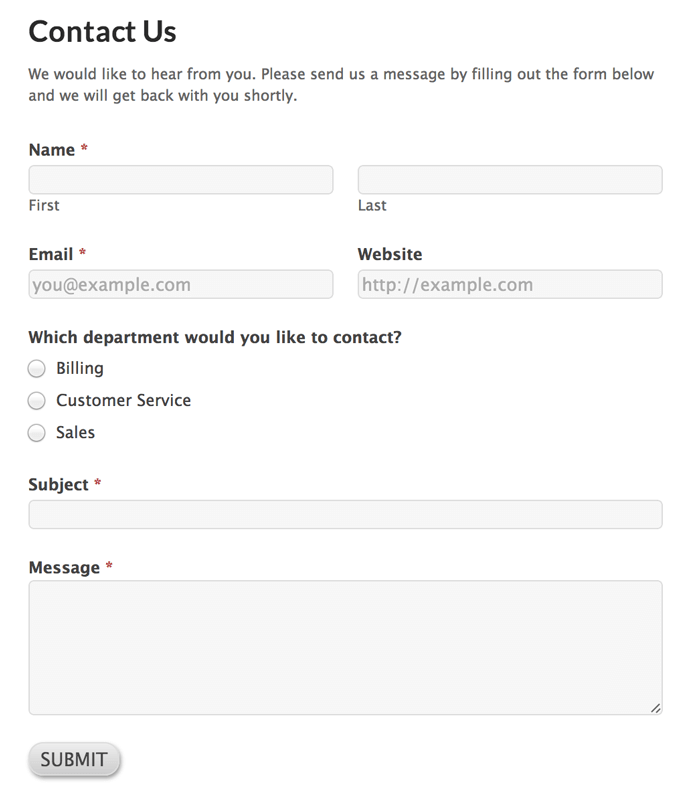 Creating A Contact Page With The Customizr Theme And The Formidable
