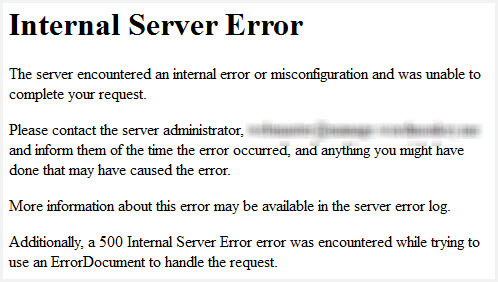 How To Fix A 500 Internal Server Error In WordPress Press Customizr Documentation